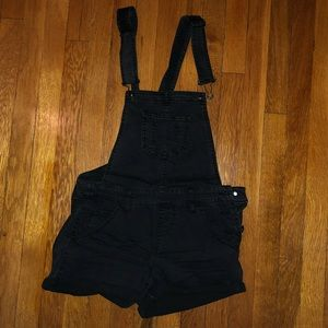 Black Overall Shorts NWOT